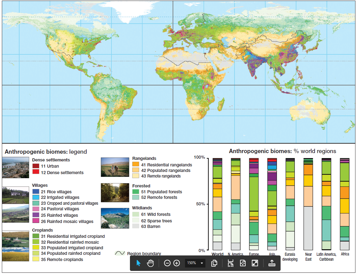 Environmentgeography anthropogenic biomes anthromes or environmentgeography anthropogenic biomes anthromes or human biomes upsctree gumiabroncs Images